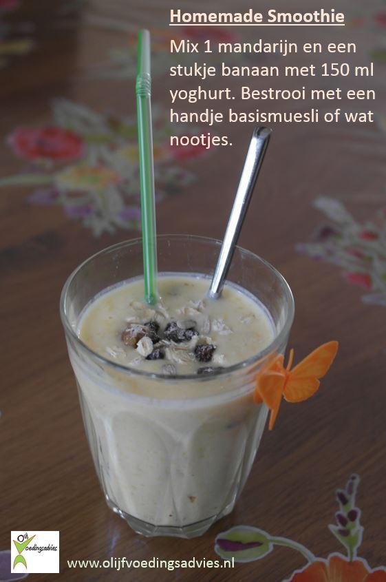Homemade smoothie foto