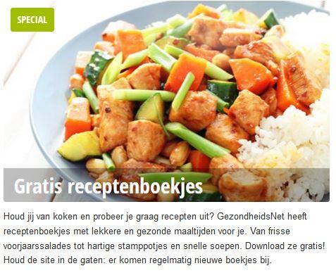 gezondheidsnet receptenboekjes